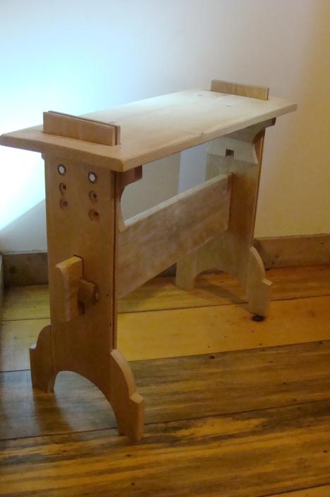"""Weaving Bench #2"", Nick Milburn, 2012, Birch and Hemlock"